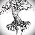 Дерево жизни тату - вариант эскиза