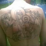 Зоновские наколки - икона на спине