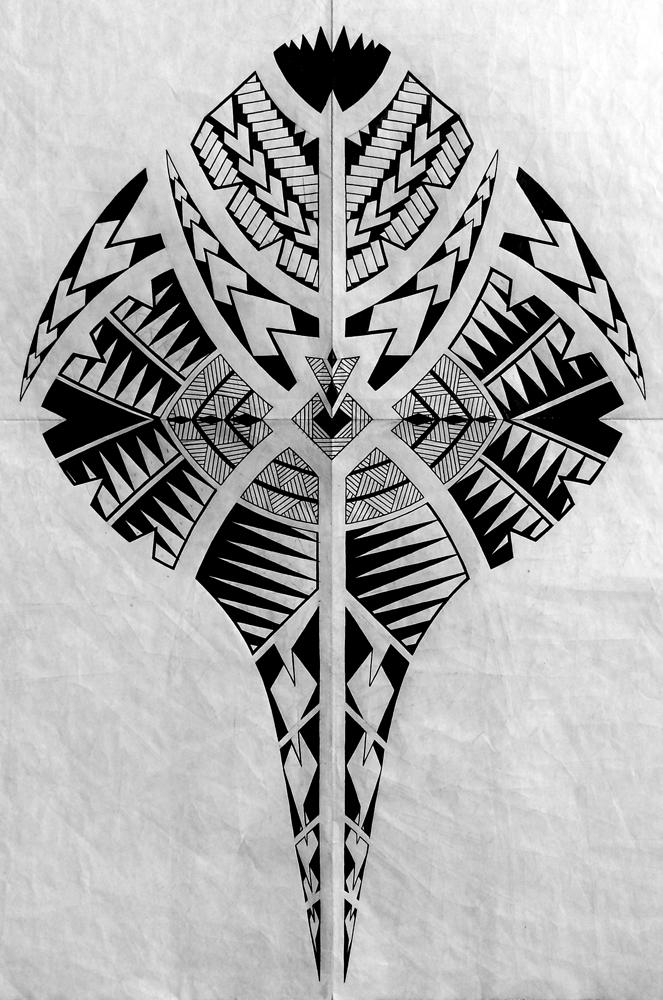 Полинезия тату эскизы - очертания ската