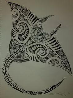 Полинезия тату эскизы - скат - эксклюзивный рисунок