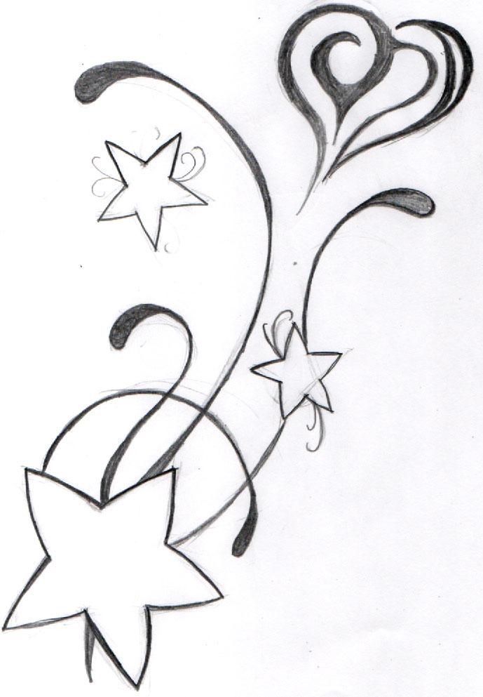 Эскизы тату звезда 7