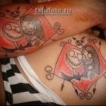 классная парная татуировка со смешным рисунком