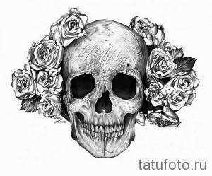 Значение тату череп 4