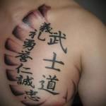 Значение японских иероглифов тату 7