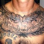 Татуировки на грудной клетке мужские 10