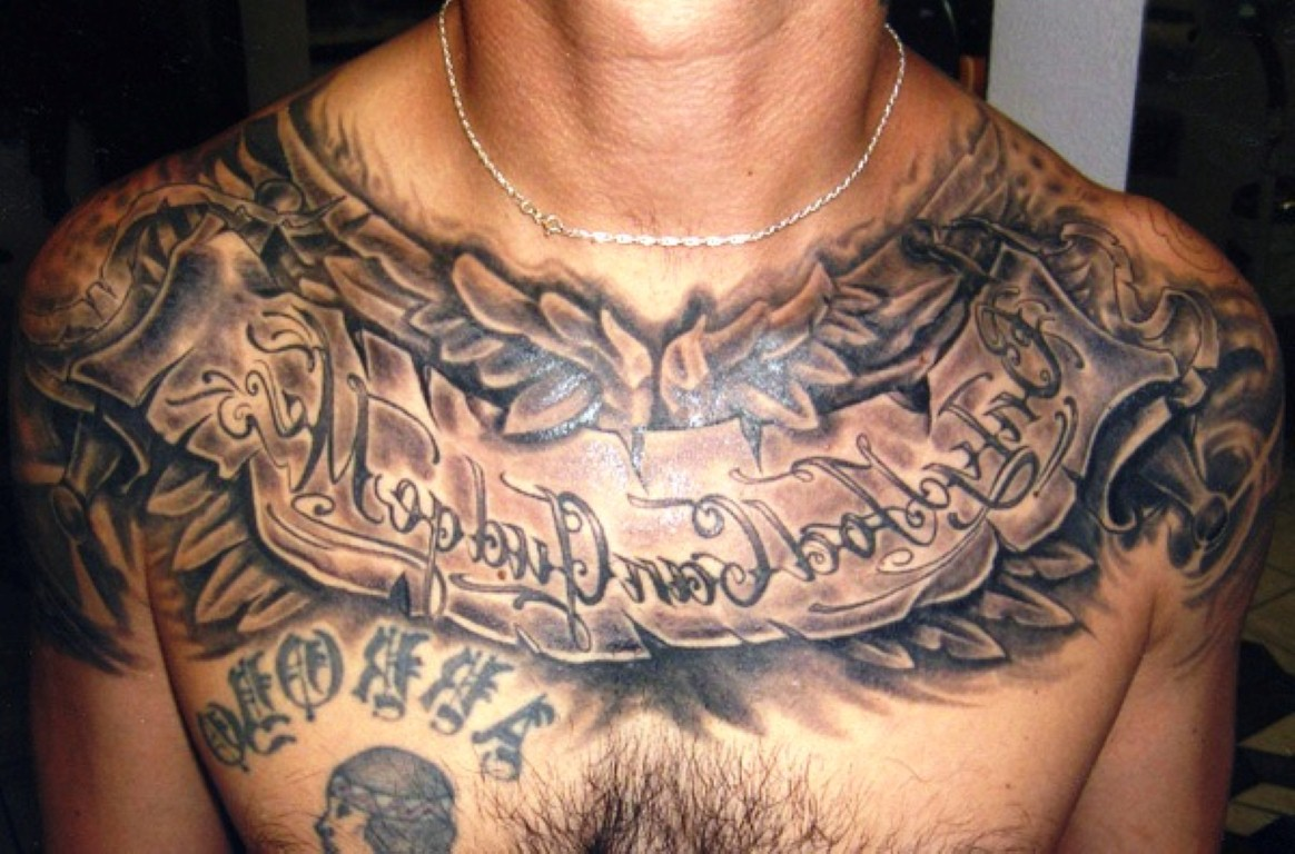 Фото тату для мужчин на грудине