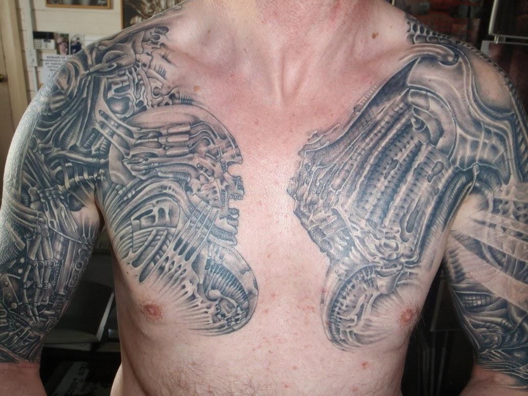 Татуировки на грудной клетке мужские 15