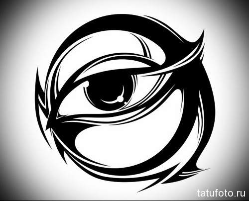 Тату глаз эскиз 1