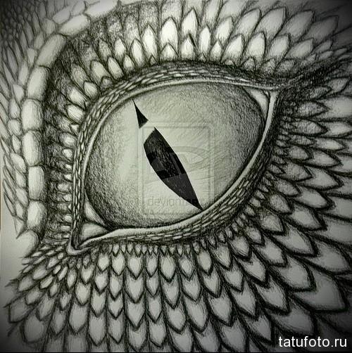 Тату глаз эскиз 10