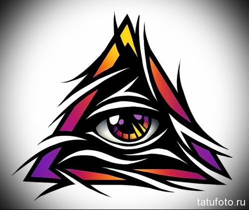 Тату глаз эскиз 11