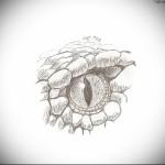 Тату глаз эскиз 13