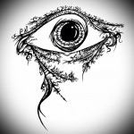 Тату глаз эскиз 16