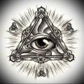 Тату глаз эскиз 20