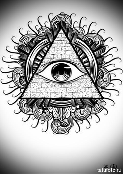 Тату глаз эскиз 8