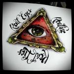 Тату глаз эскиз 9
