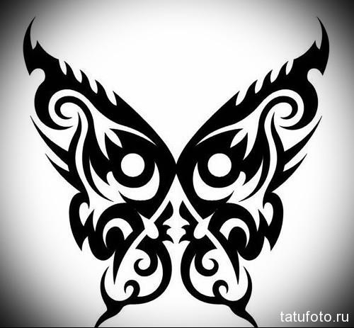 Эскиз татуировки с бабочкой 11