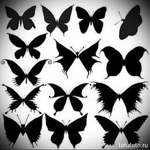 Тату эскизы бабочка черная