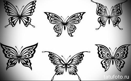 Эскиз татуировки с бабочкой 3