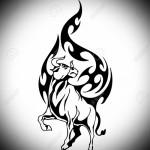 бык угрожающий - Тату быка эскиз