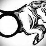 символ и рисунок быка - Тату быка эскиз