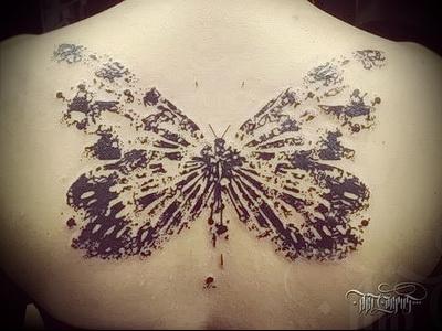 татуировки для девушек бабочки