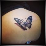 тату бабочки 3d фото