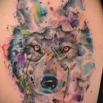 тату белый волк 2
