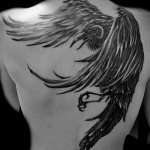 тату ворон взмах крыльями