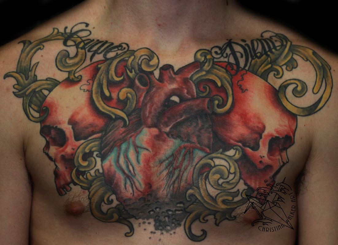 Татуировки на грудной клетке мужские 1