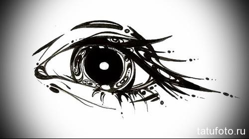Тату глаз эскиз 12