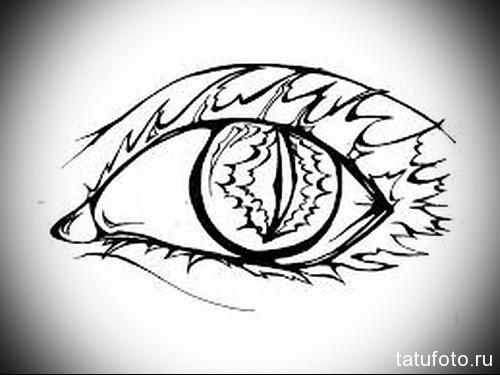 Тату глаз эскиз 24