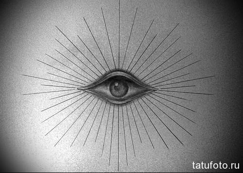 Тату глаз эскиз 37
