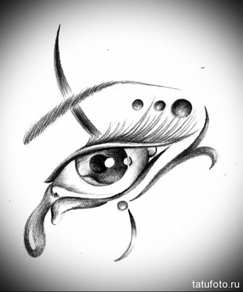 Тату глаз эскиз 39