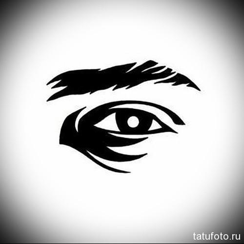 Тату глаз эскиз 7