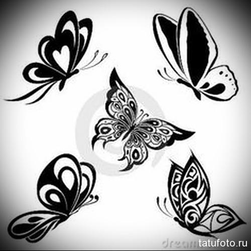 Эскиз татуировки с бабочкой 21