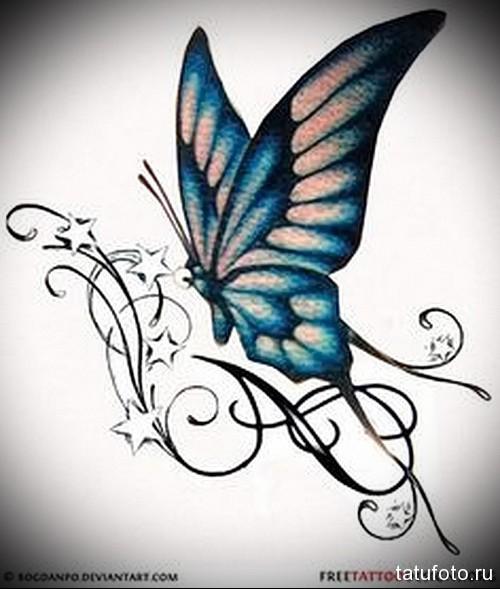 Эскиз татуировки с бабочкой 22