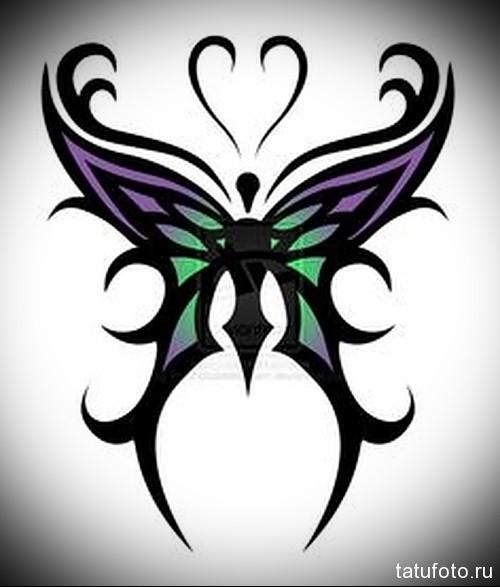 Эскиз татуировки с бабочкой 24