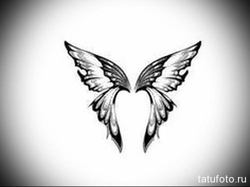 Эскиз татуировки с бабочкой 27