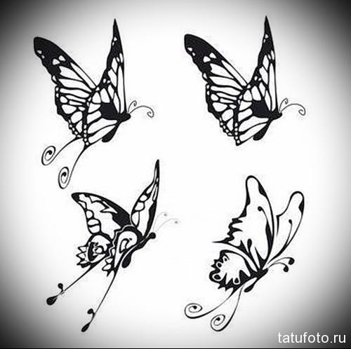 Эскиз татуировки с бабочкой 28