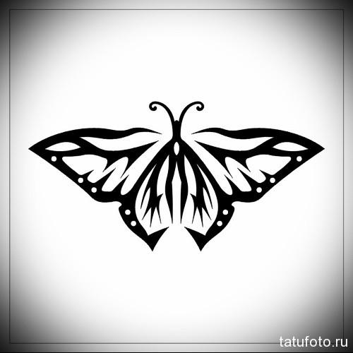 Эскиз татуировки с бабочкой 7