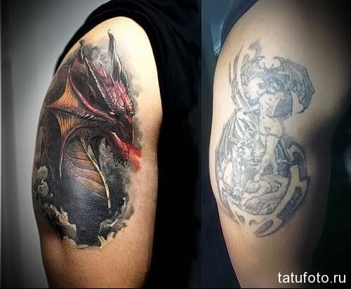 дракон на руке тату 1