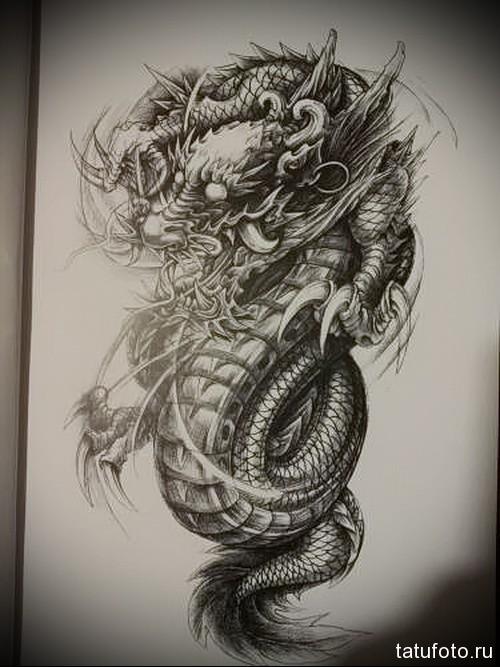 китайский дракон тату 3