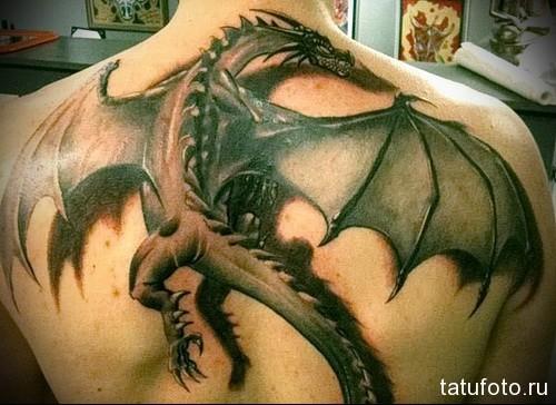 мужские тату драконы 3