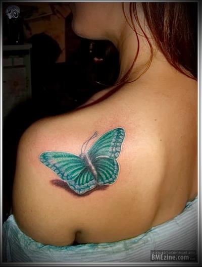 тату бабочка фото