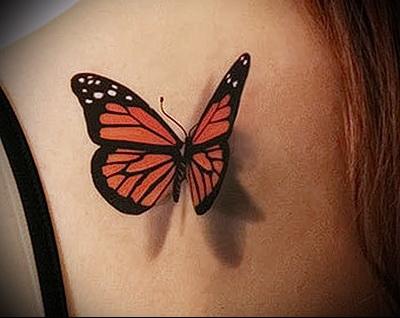 тату бабочки 3d фото 1