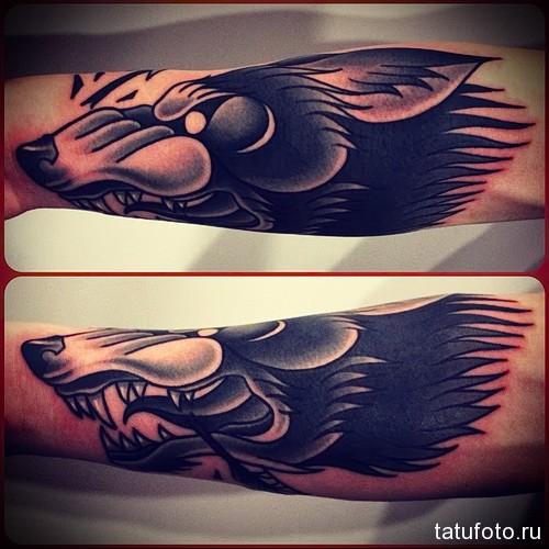 тату волка на руке 2