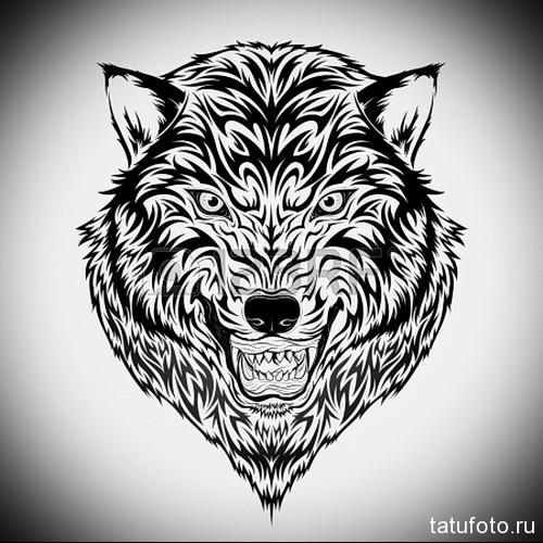 тату черный волк 4