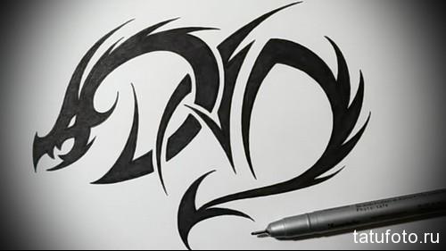 тату черный дракон 2