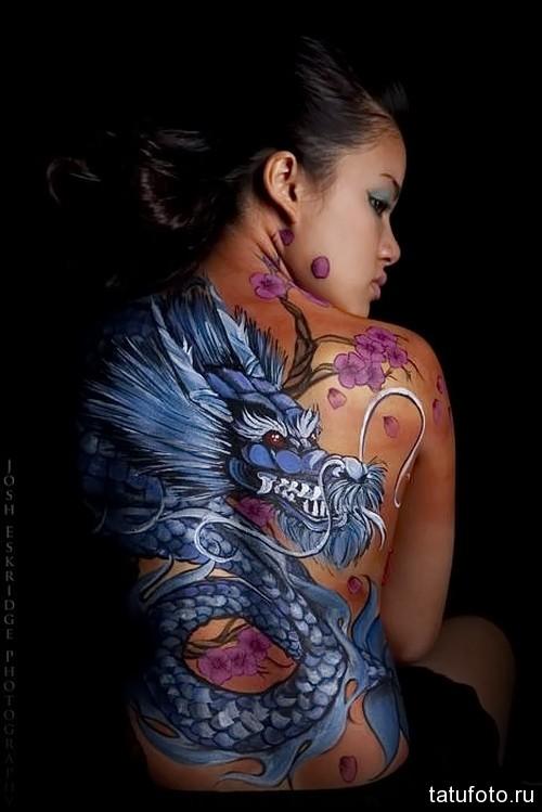 фото тату дракона на спине 2