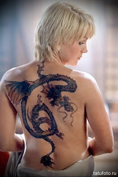фото тату дракона на спине 4